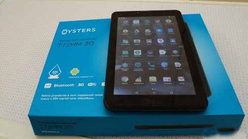 планшет Oysters T72 HM 3G